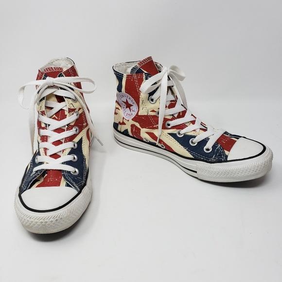 b0a688487c Converse Shoes | Chuck Taylor High Tops British Flag | Poshmark